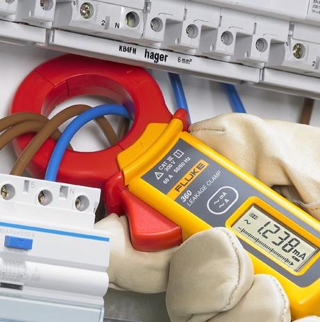 измерение тока утечки установки