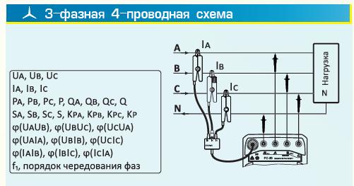 3-фазная 4-проводная