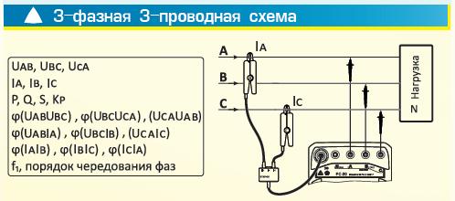 3-фазная 3-проводная